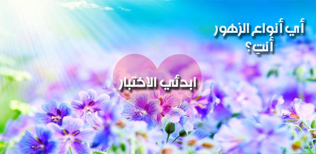 أي نوع من الزهور أنتِ؟